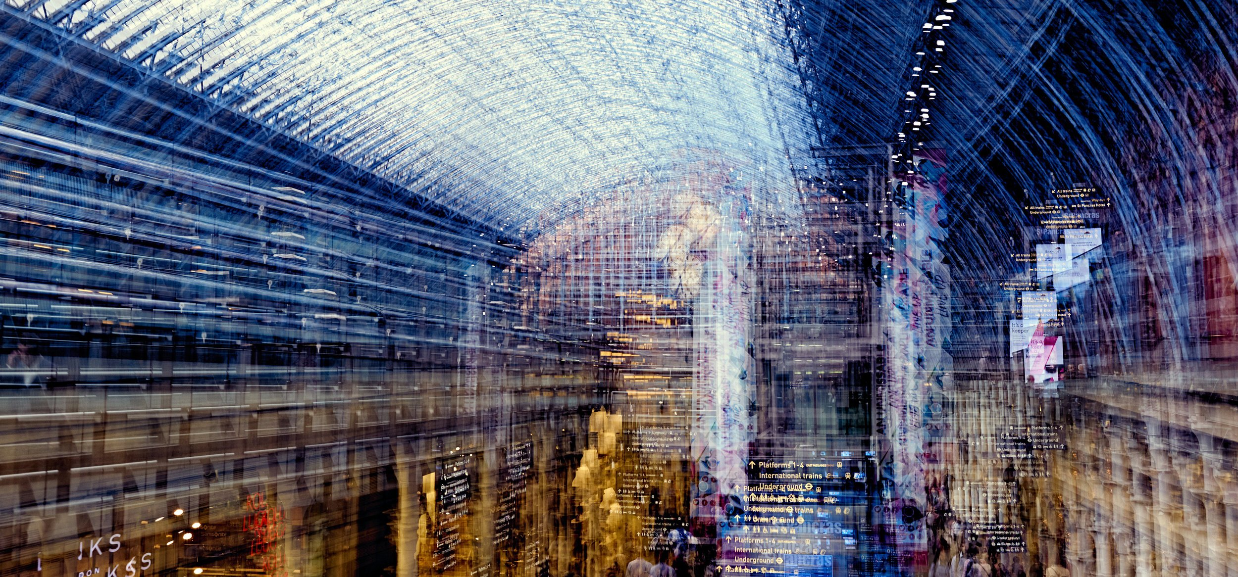 St Pancras multiple exposure - Darren Rose