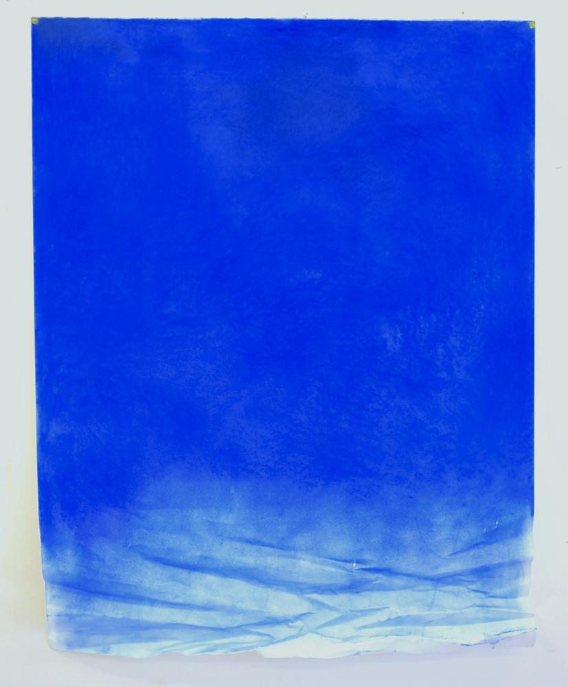 Float/big blue  (2015), 116 x 90cm, dry pastel on paper