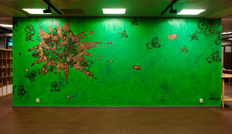 Wall based mosaic, 300 x 600 cm