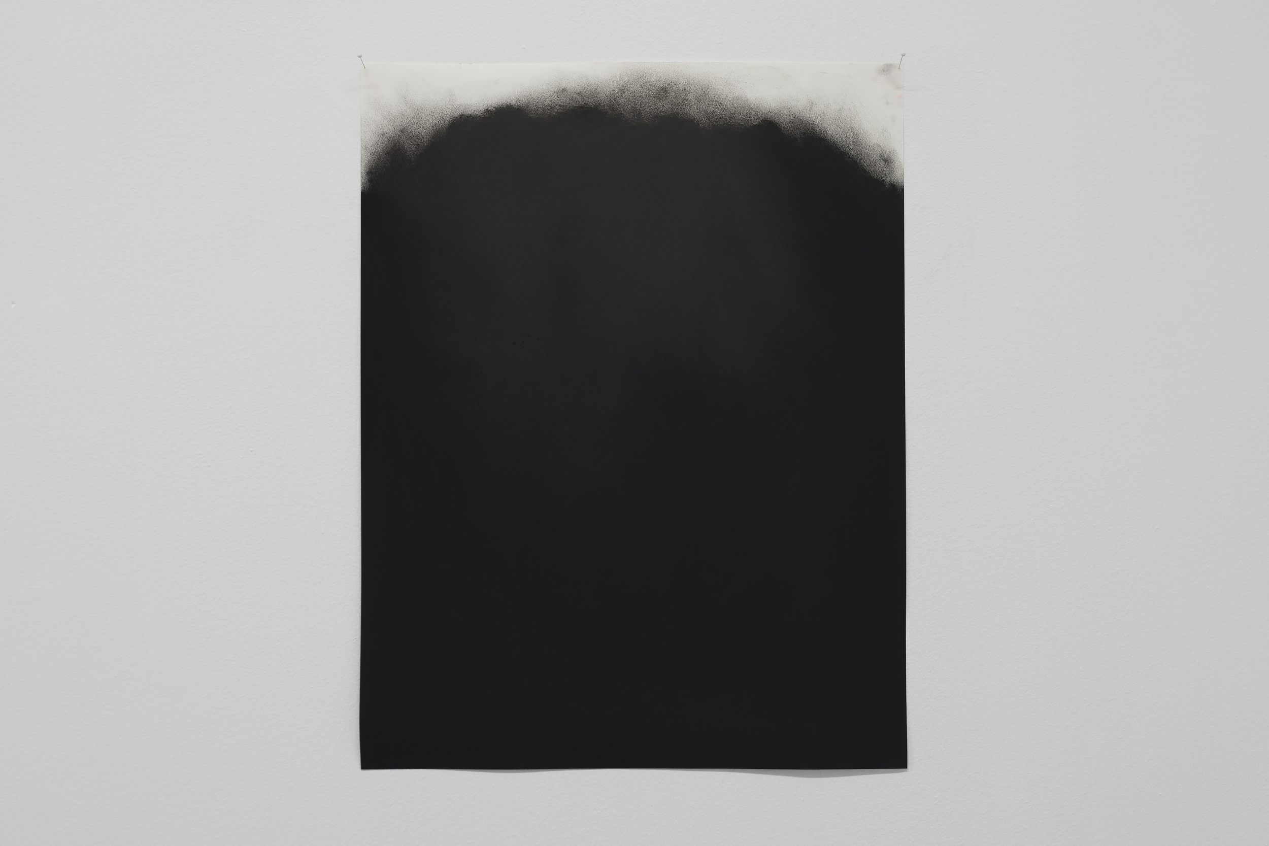 Black study II  (2015), dry pastel on paper  Private collection, Stavanger   Photo: Tommy Ellingsen