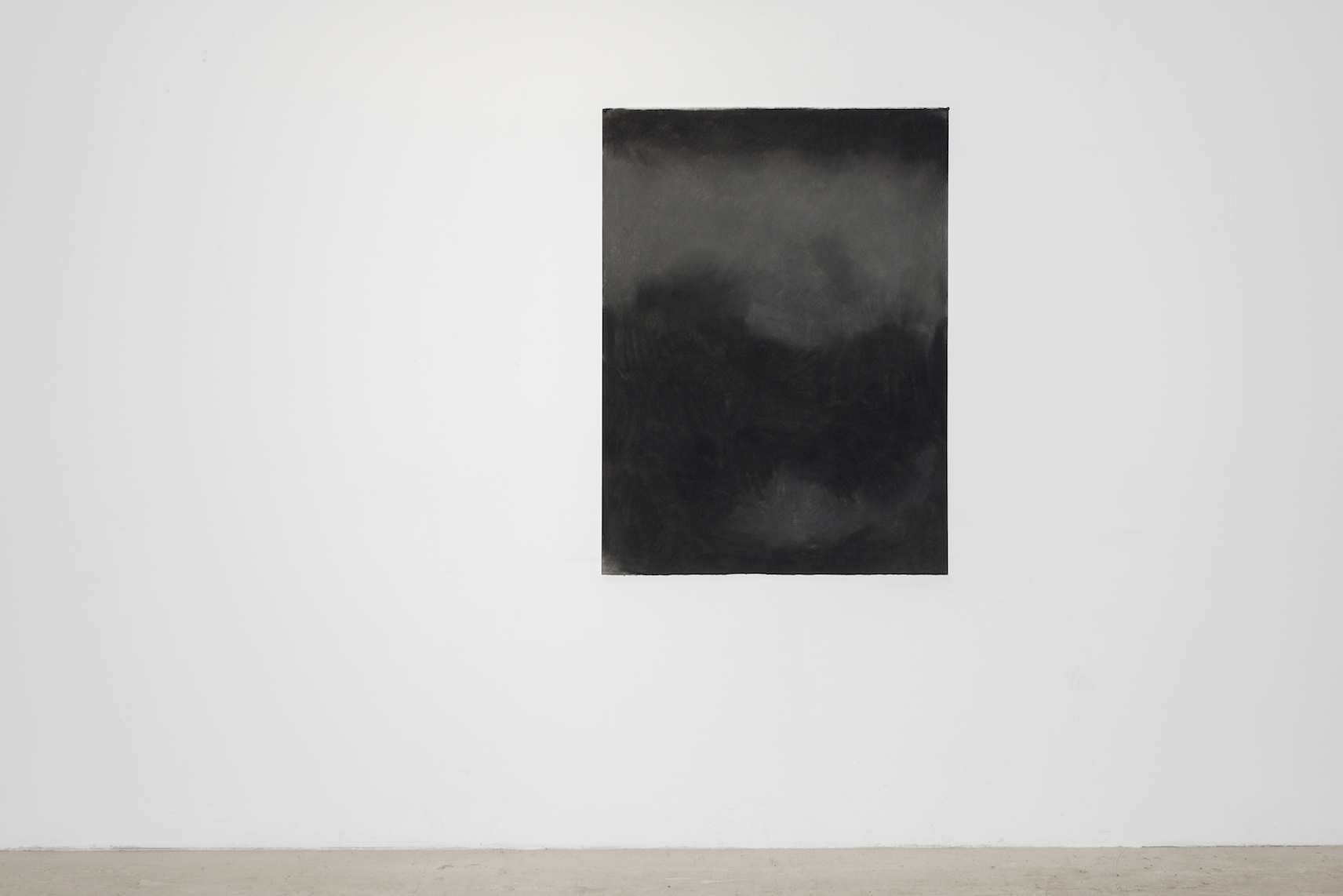 Black Study III  (2015),dry pastel on paper Photo: Tommy Ellingsen