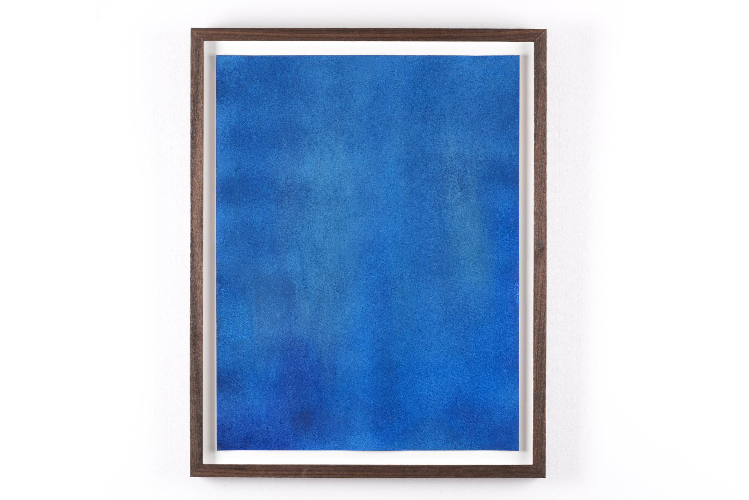 Dry pastel on paper, walnut frame, 2016  Photo: Jan Inge Haga