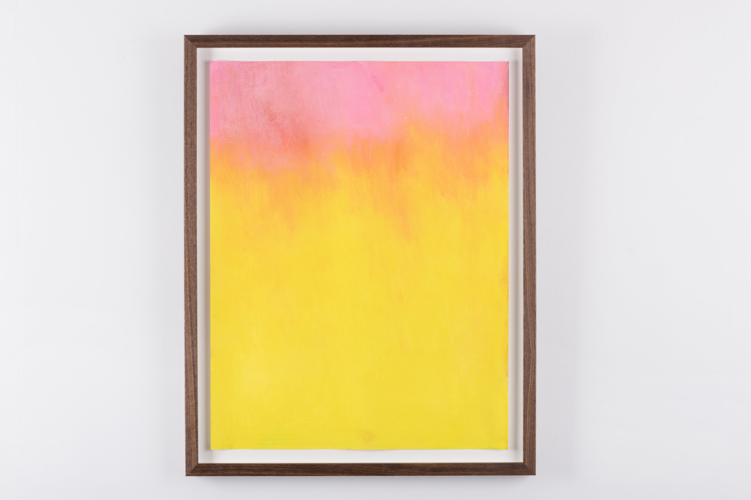 Dry pastel on paper, walnut frame, 2016  Private collection, Stavanger   Photo: Jan Inge Haga