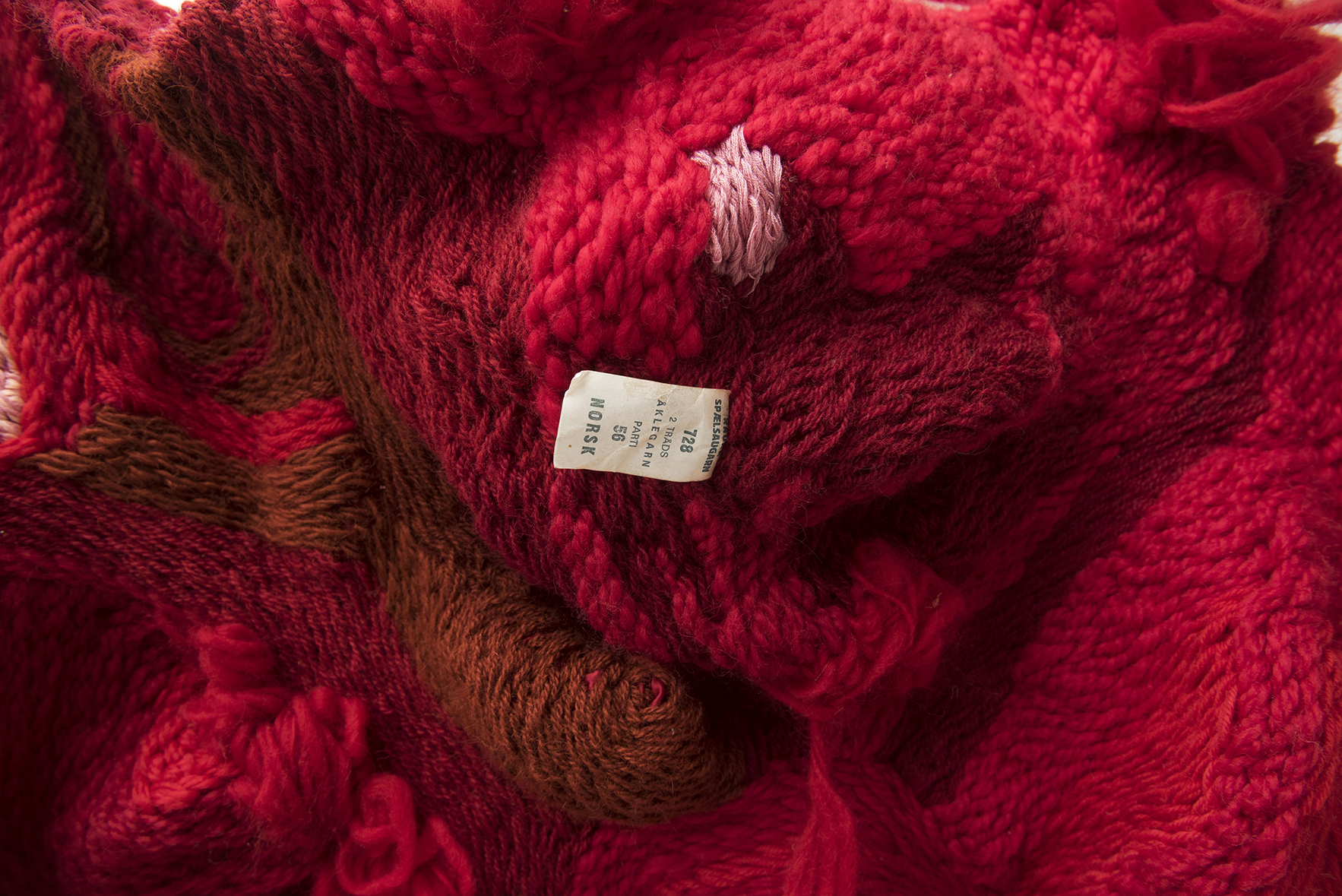 Lineage II (2016 - 17) Stem Stitch on polyester  Photo: Jan Inge Haga