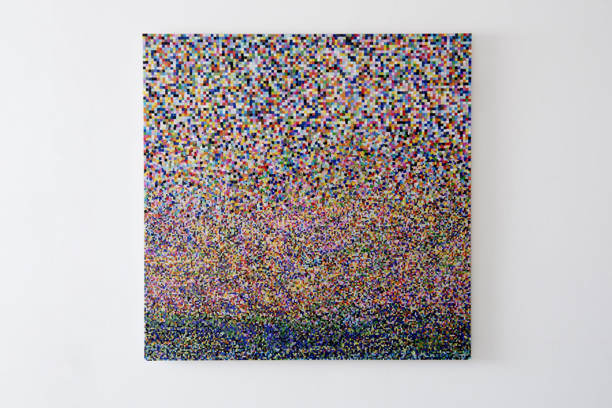 Mosaic Study III (continued) 2017 Mosaic, MDF 122x122cm Private Collection  Photo: Jan Inge Haga