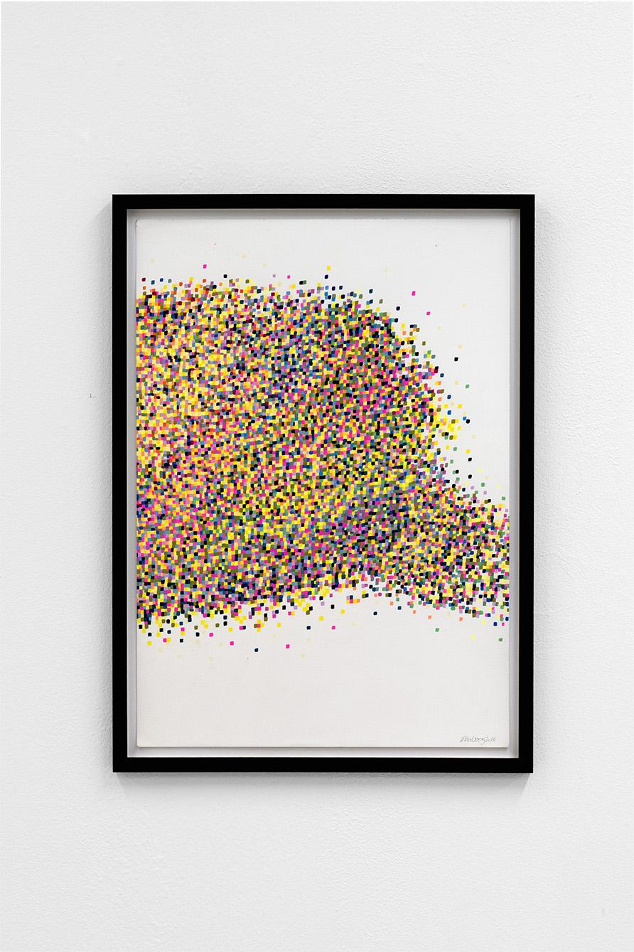 Mosaic drawings (2018)  65 x 47,4cm  Photo: Jan Inge Haga