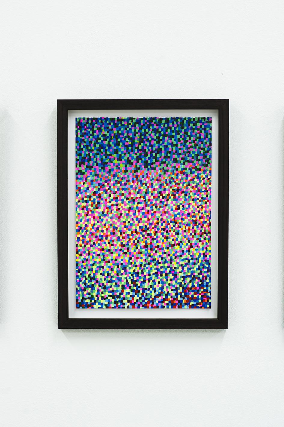 Mosaic drawings (2018)  35 x 26,2cm Private Collection  Photo: Jan Inge Haga