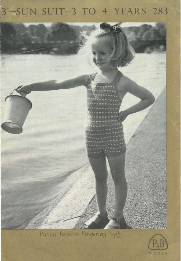 Children's vintage Sun Suit RK front