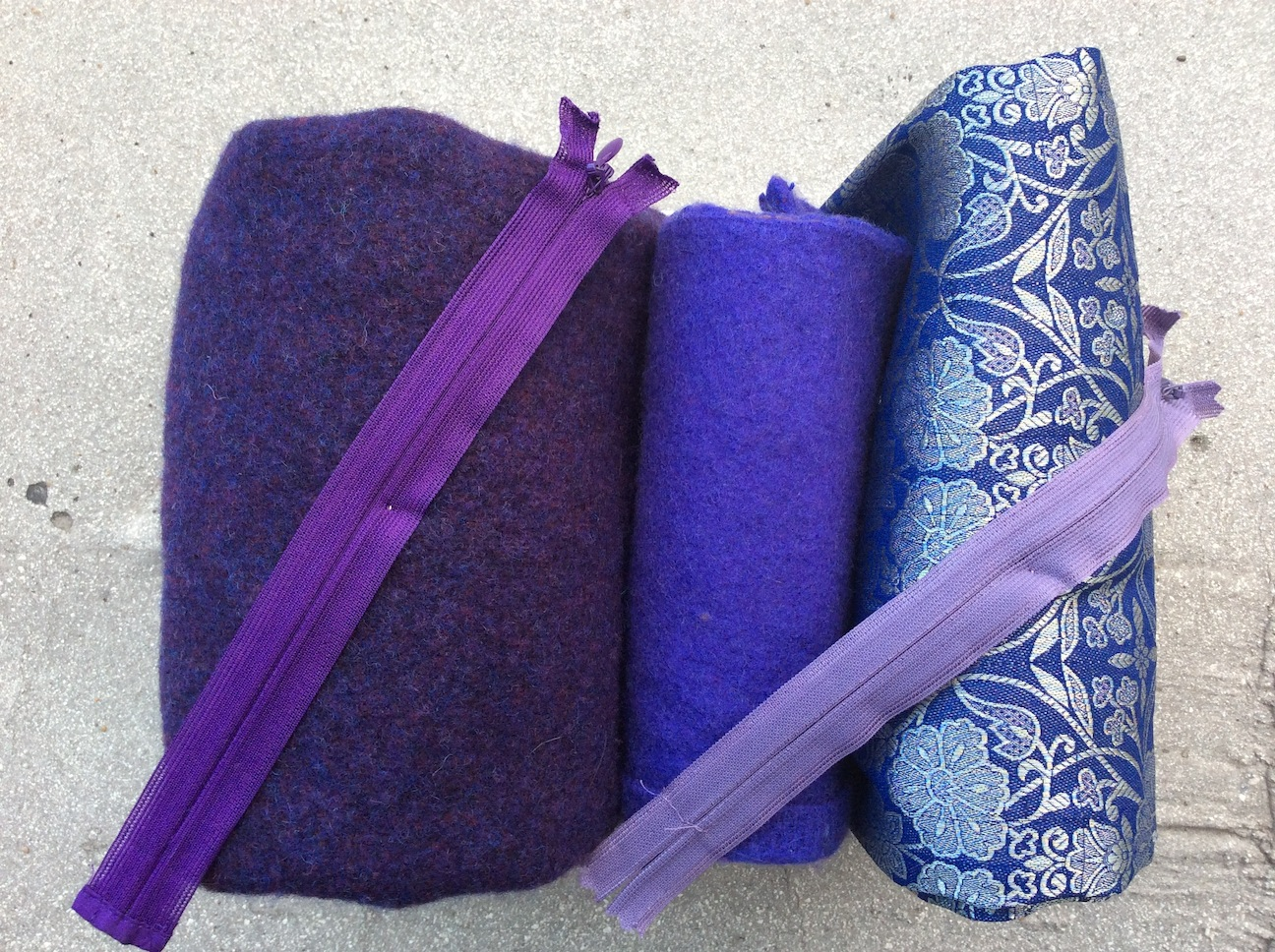 recycled messenger bag colour purple RK