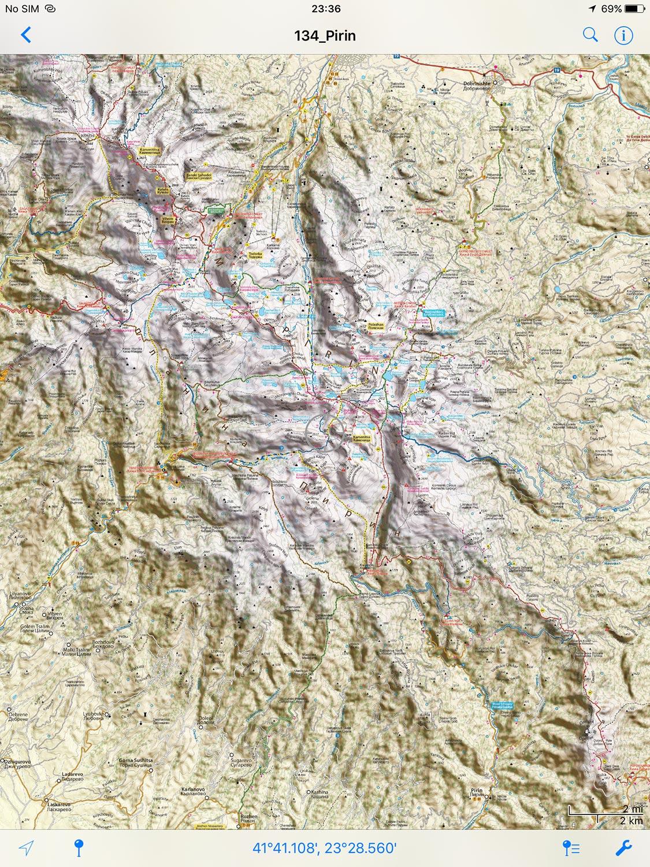 The New Digital Hiking Map Of Pirin Digitalna Turisticheska Karta
