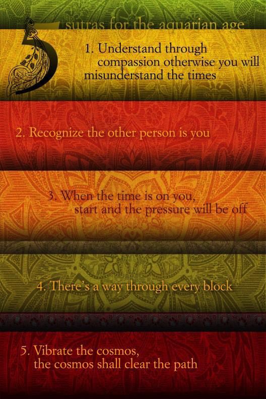 5 Sutras of Kundalini yoga as taught by Yogi Bhajan