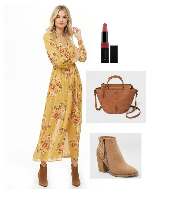 SHOP THIS LOOK:     Dress    |    Lipstick    |    Bag    |    Booties