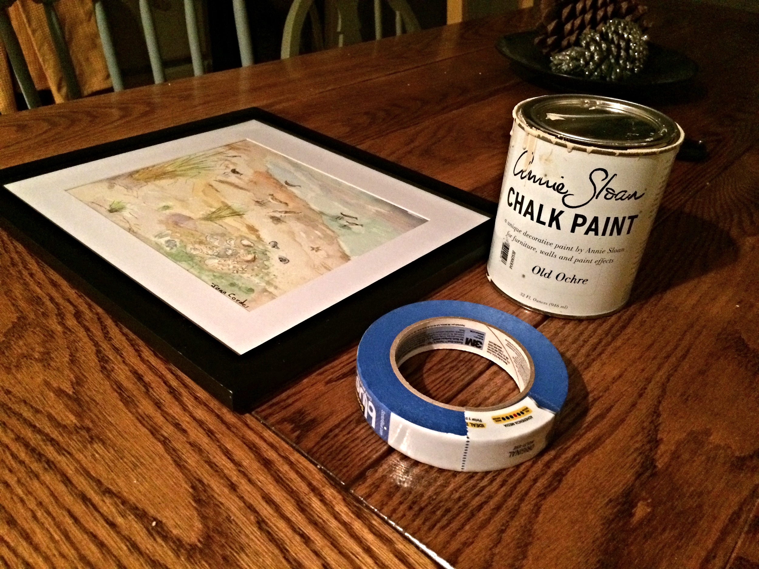 chalk paint picture frame diy