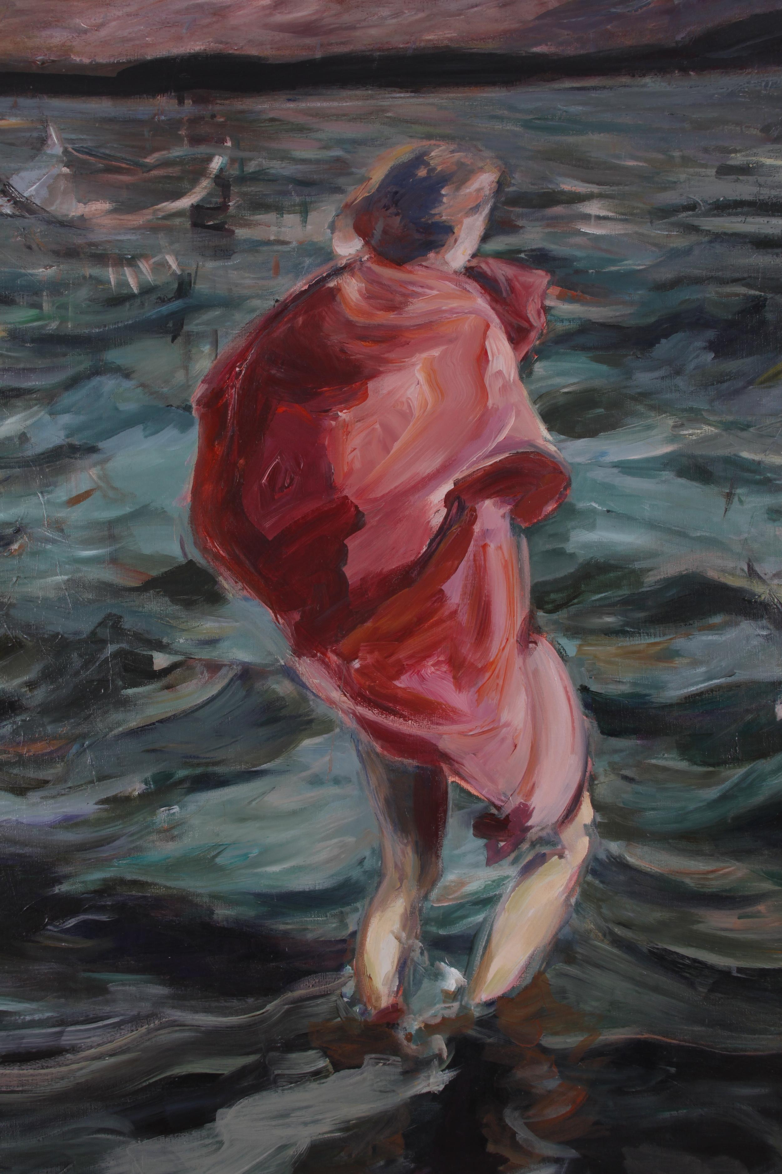 "DETAIL Lamentation, 1994, oil on canvas, 48"" x 60""."