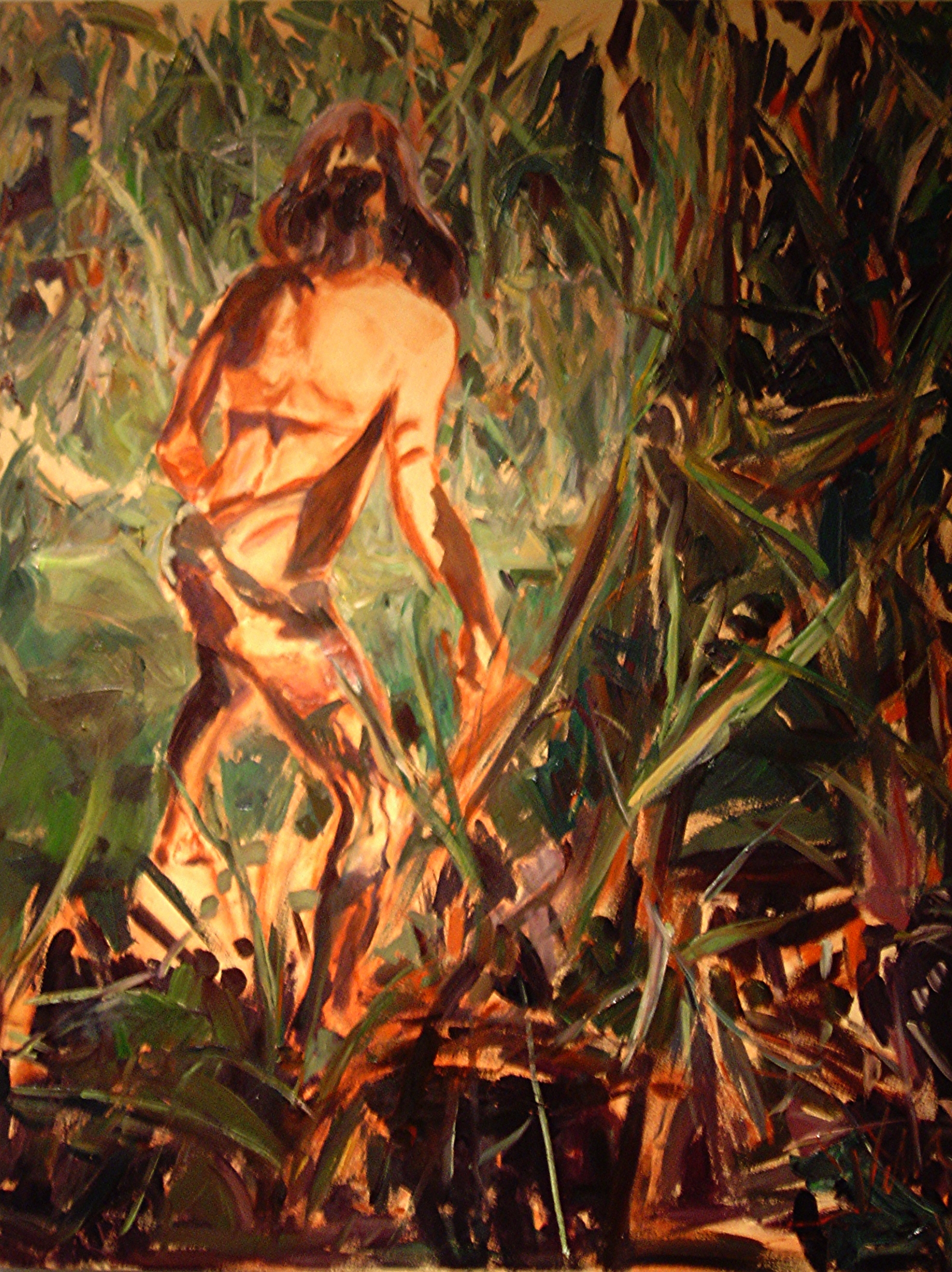 "Beat of the Drum, 2006, oil on canvas, 54"" x 42""."