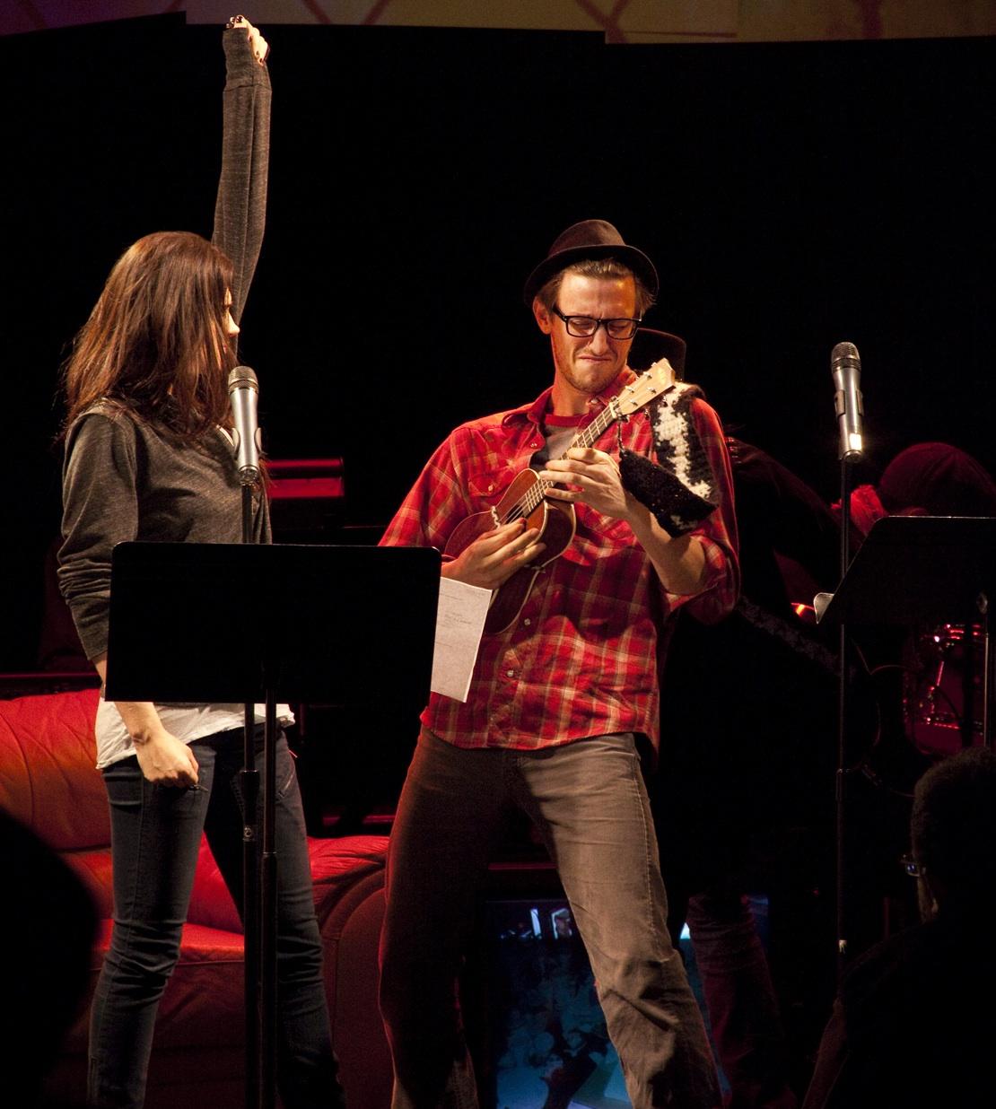 Gayle Rankin & Teddy Yudain in DARLING at ANT Fest (2011). Photo courtesy Ars Nova.
