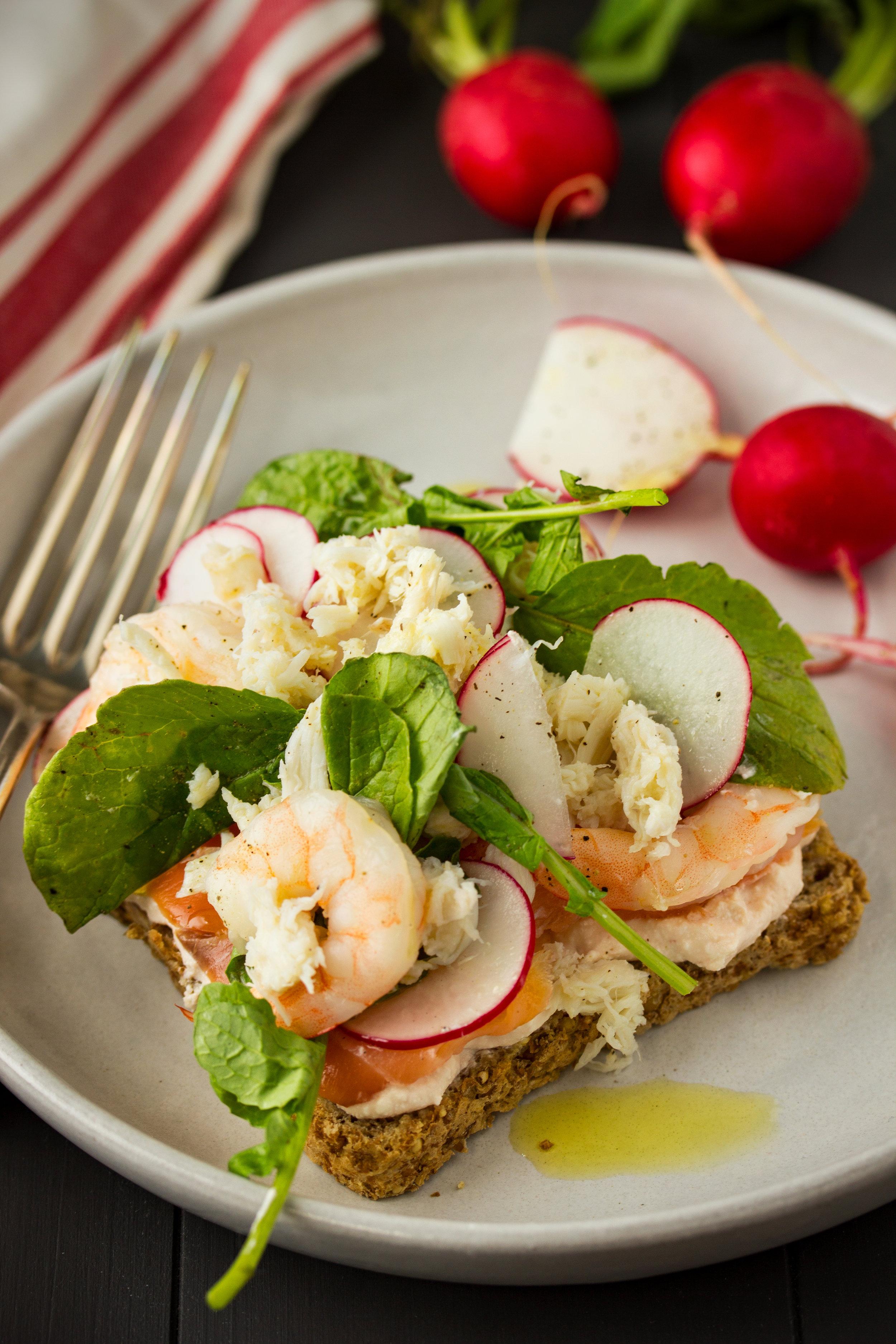 Seafood and Radish Toast