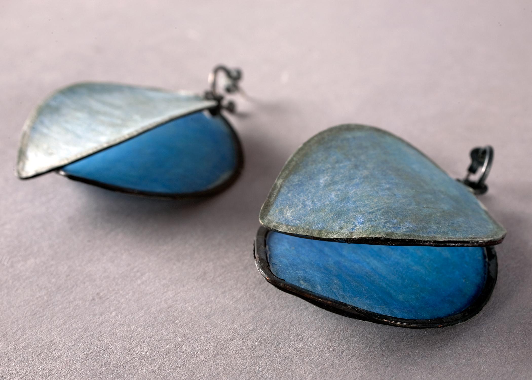 Painted Earrings detail