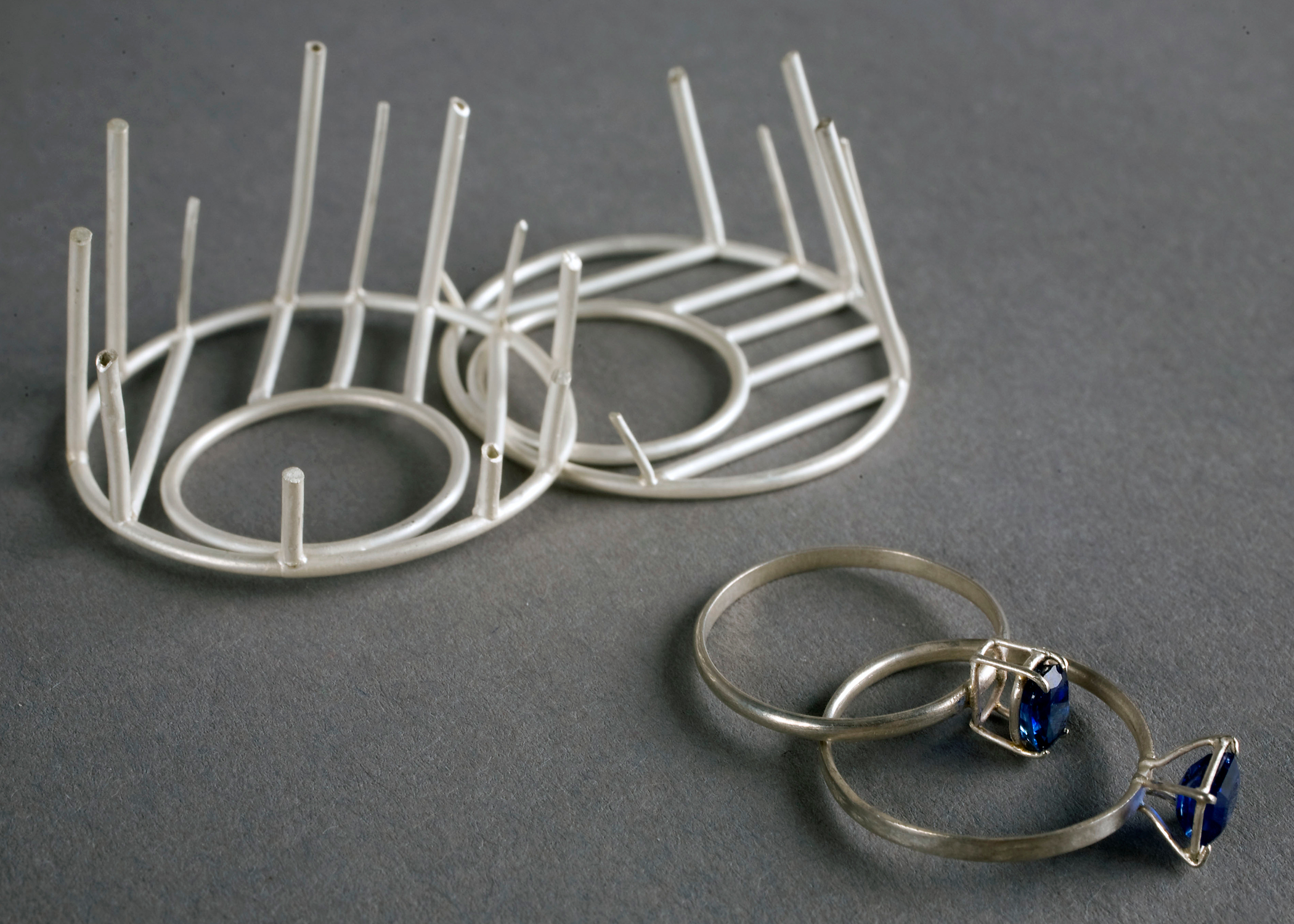 Cozy Indigo Rings detail