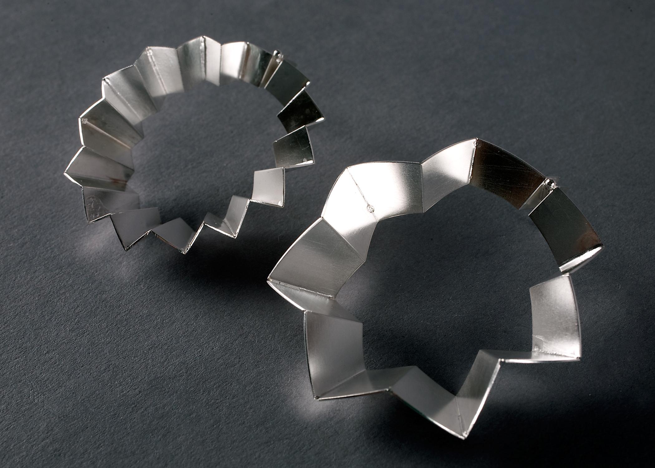 Asymmetrical Circle Earrings
