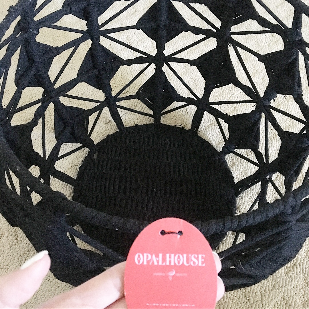 Basket. - Target Opalhouse macramé basket