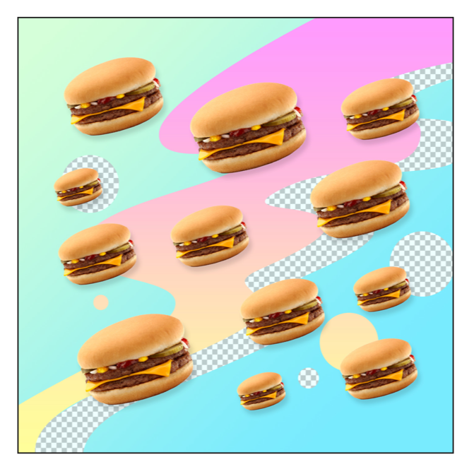 """DIGITAL JUNK FOOD - CHEEZBURGERZ"" - FRANKY AGUILAR"