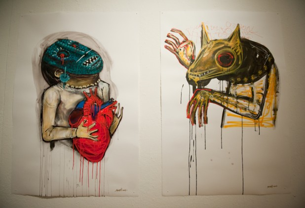 CORAZÓN SANGRANTE BY SANER @ FIFTY24SF - DIPTYCH