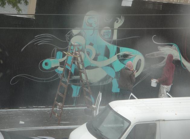 Doze green lower haight art mural