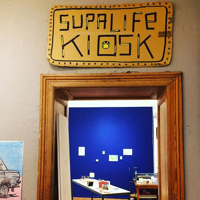 Tomorrow is Long Night of Illustrations #supalifekiosk Come and see illustrations, artist books and prints #travelexhibition #artistbooks #bookarts