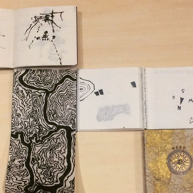 Connecting the artists books Connecting the artists @snyderelayna @smckarney @brodie.elaine #travelexhibition #artistbooks #supalife