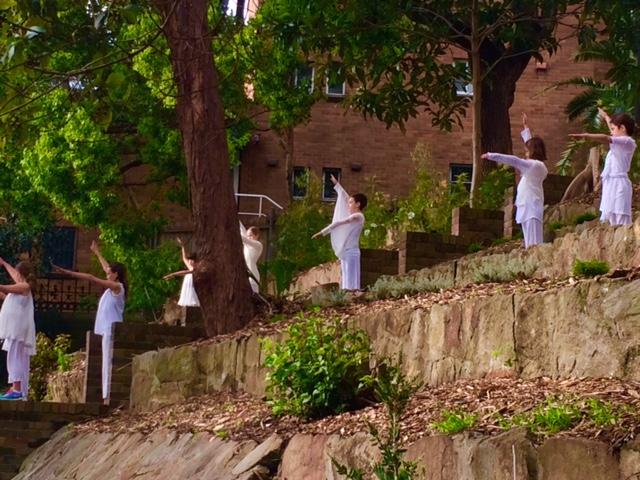 Hillside dancers