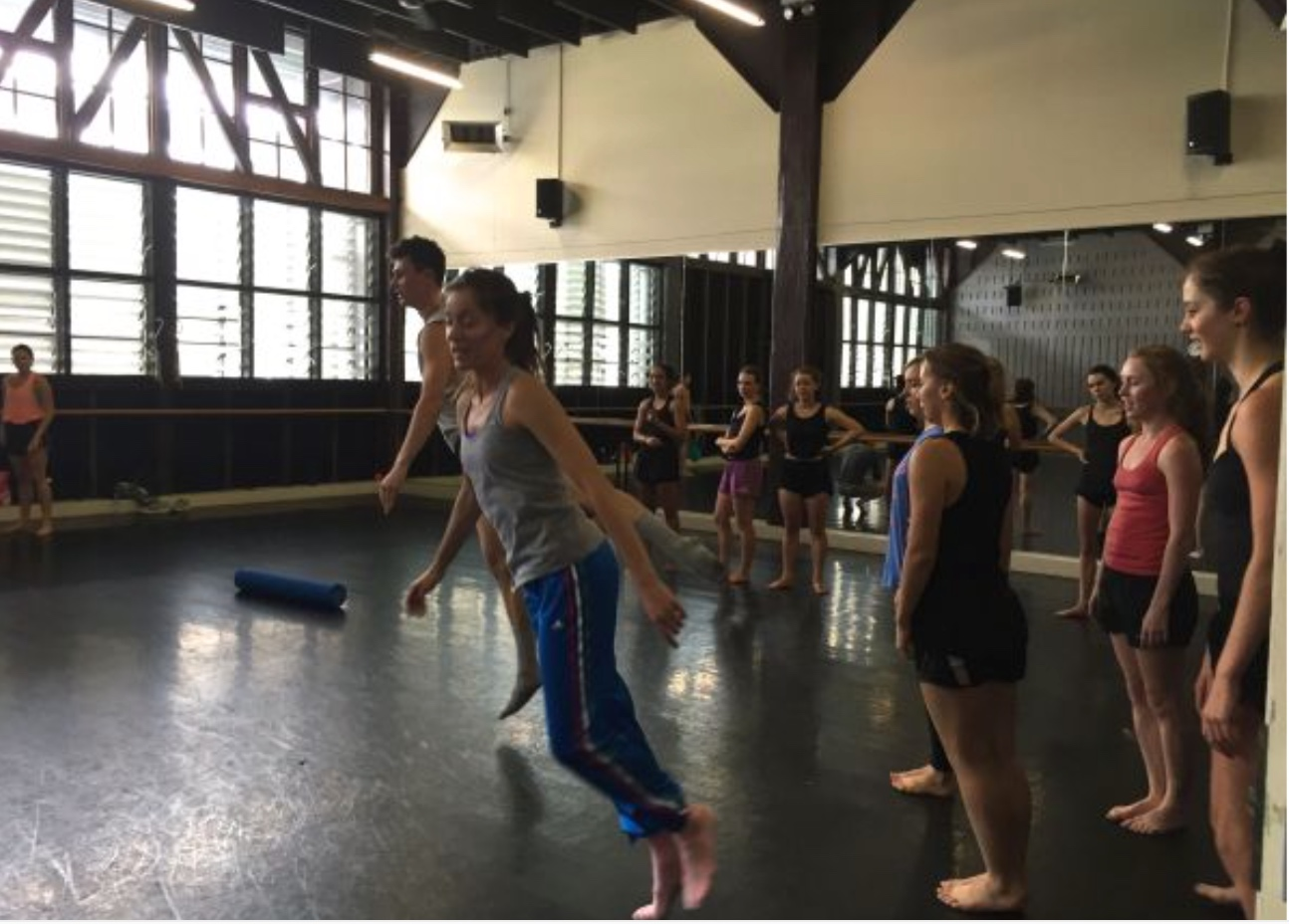 Melissa teaching the Pre-pro students