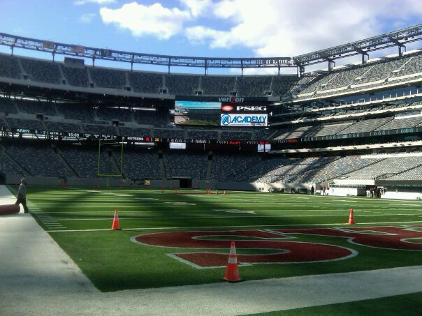 This is a picture I took of the stadium and uploaded to Facebook before the game on October 16, 2010.