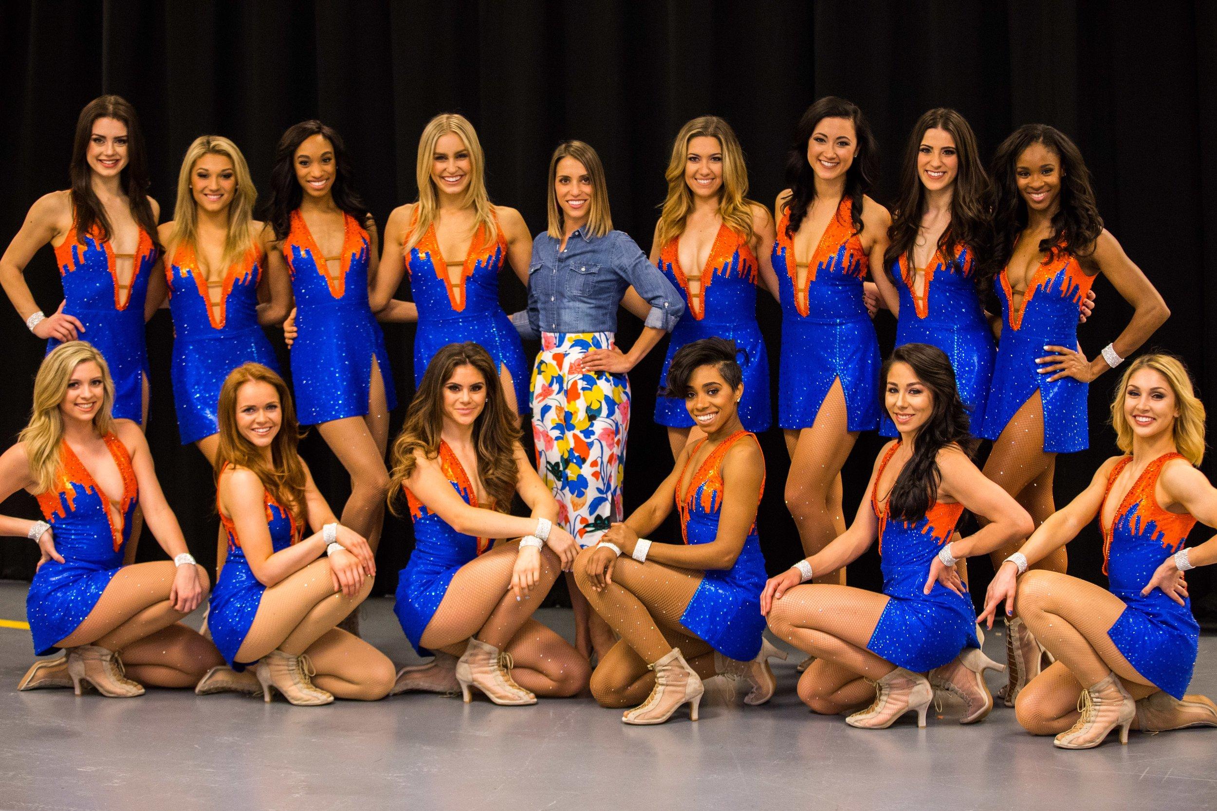 Monica with her NY Knicks Dance Team. Photo courtesy of Marissa Piloto.