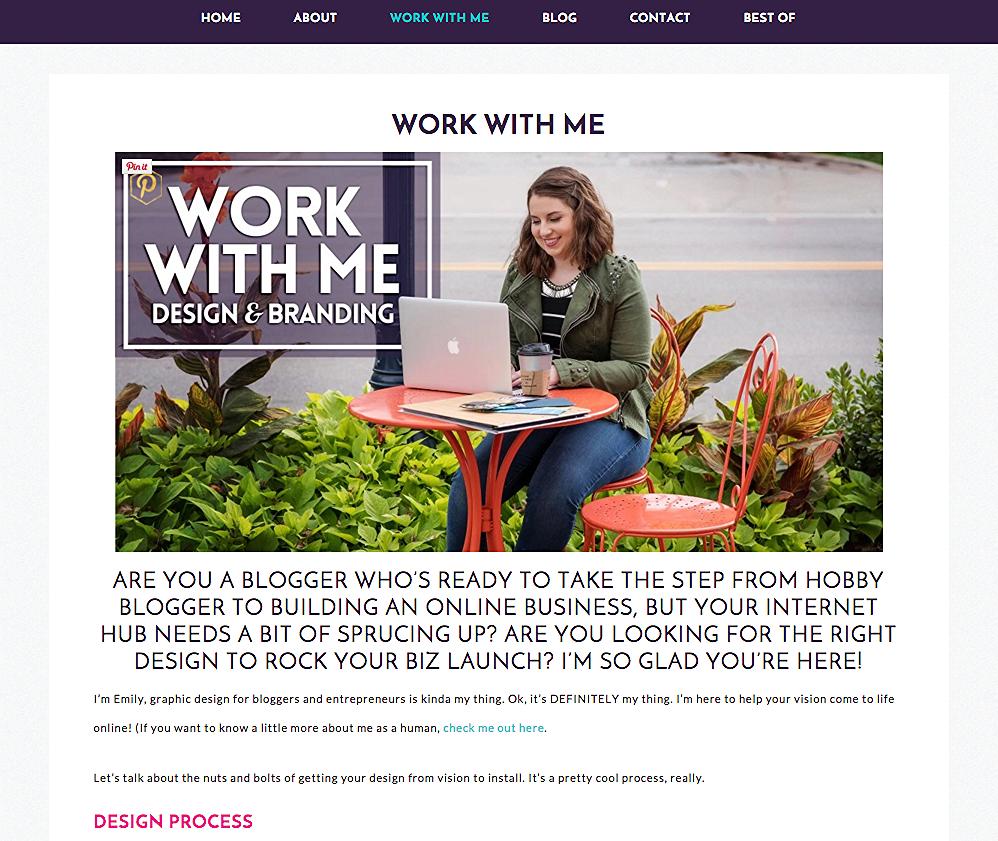 WSC web copy for Emily Finta