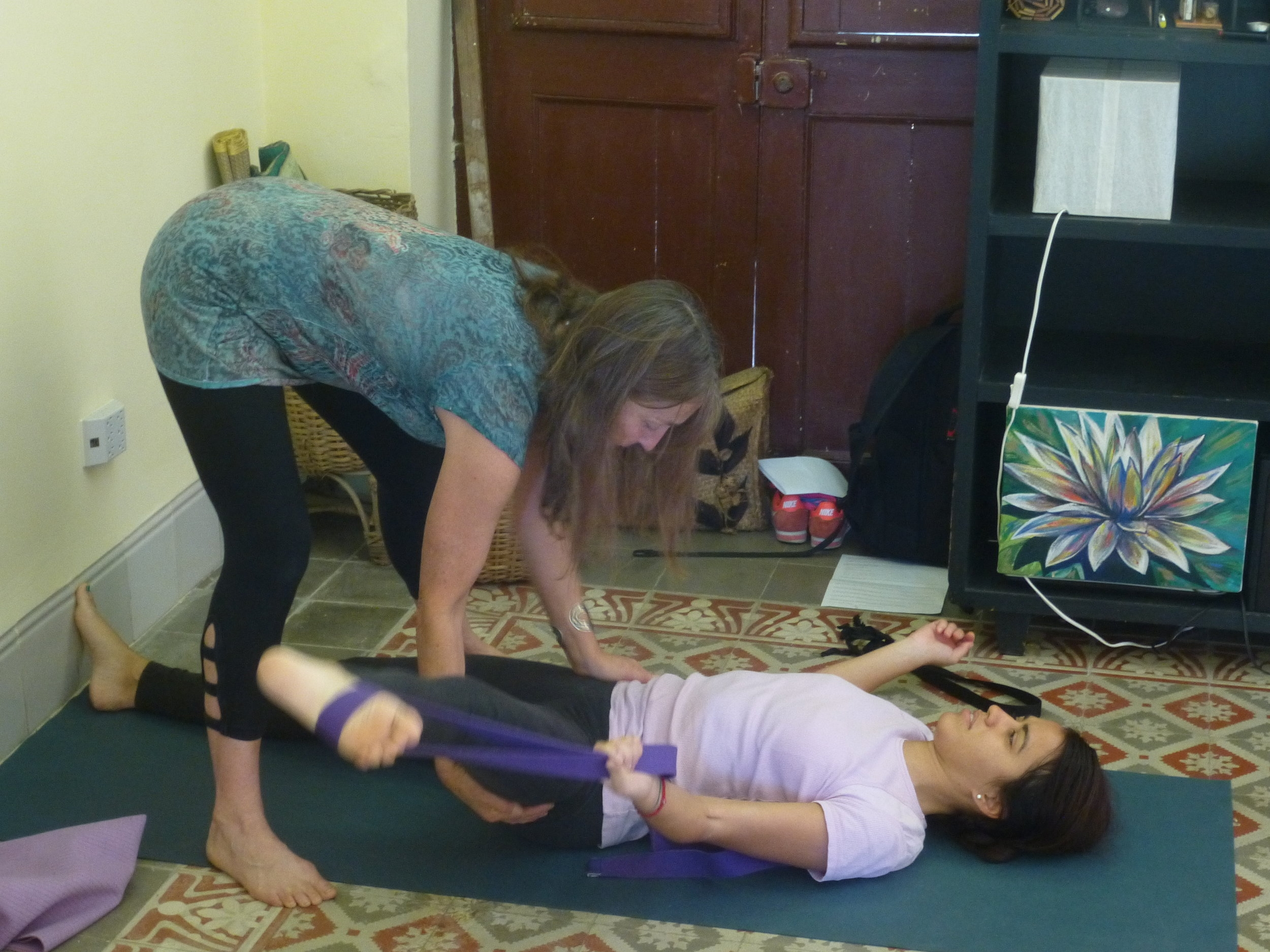 Mary Paffard assisting a participant Elizabeth, in our YV2 program. January 2017
