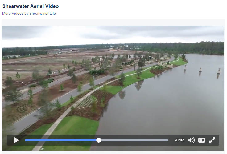 Click to explore an aerial tour of the Shearwater entry feature, courtesy of Freehold Communities.