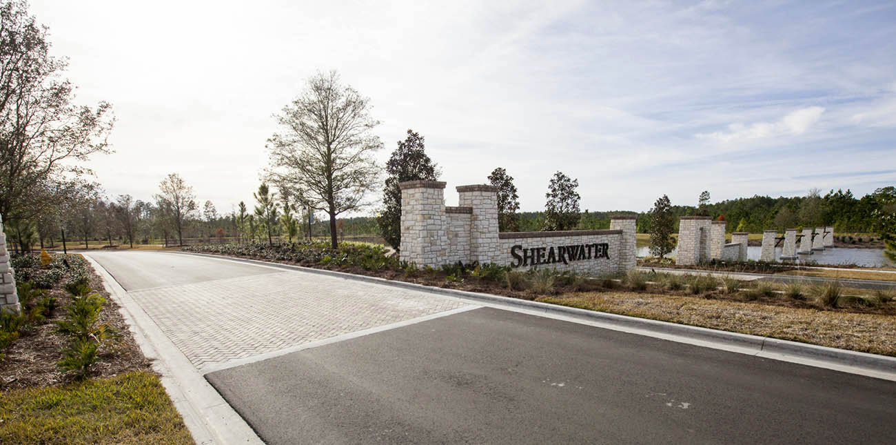 Shearwater-ELM-entry-columns-signage-landscape-architecture-environmental-graphics-water-feature-lake.jpg