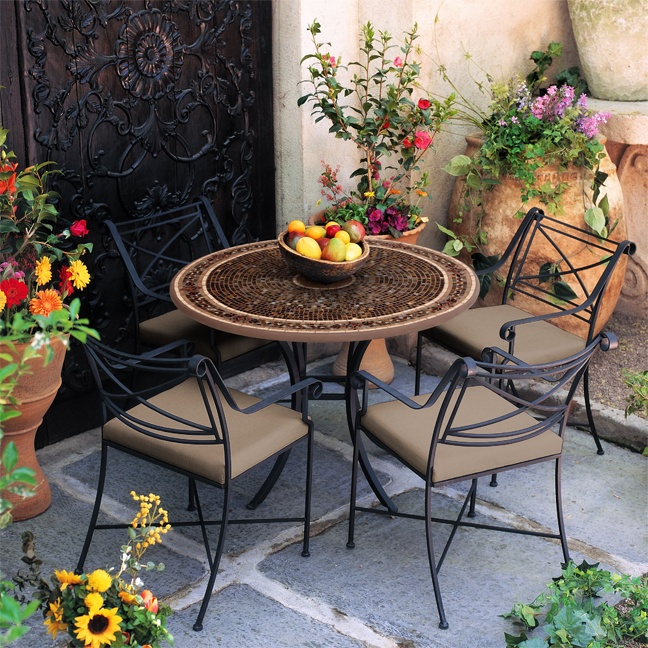 Tuscan inspired seating