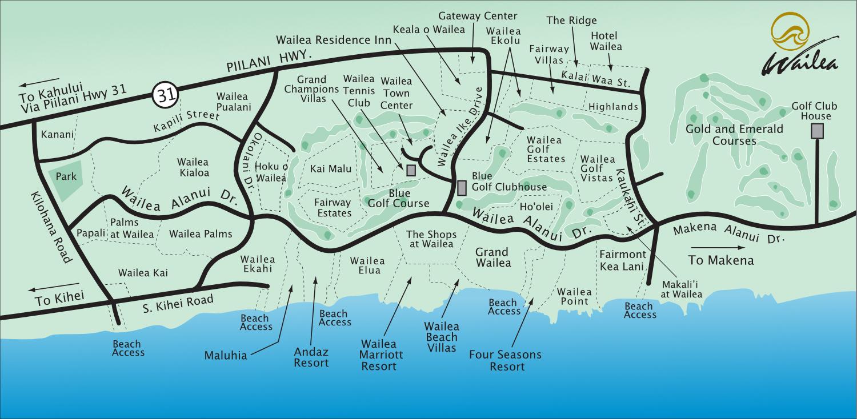 Wailea Beach Resorts Map