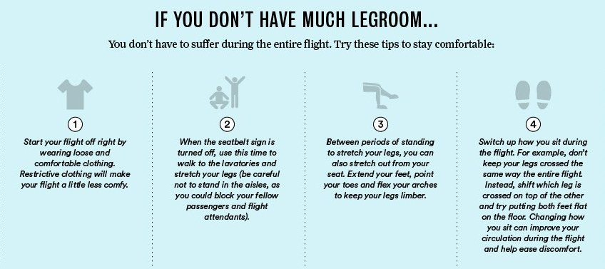 comfort tips when flying