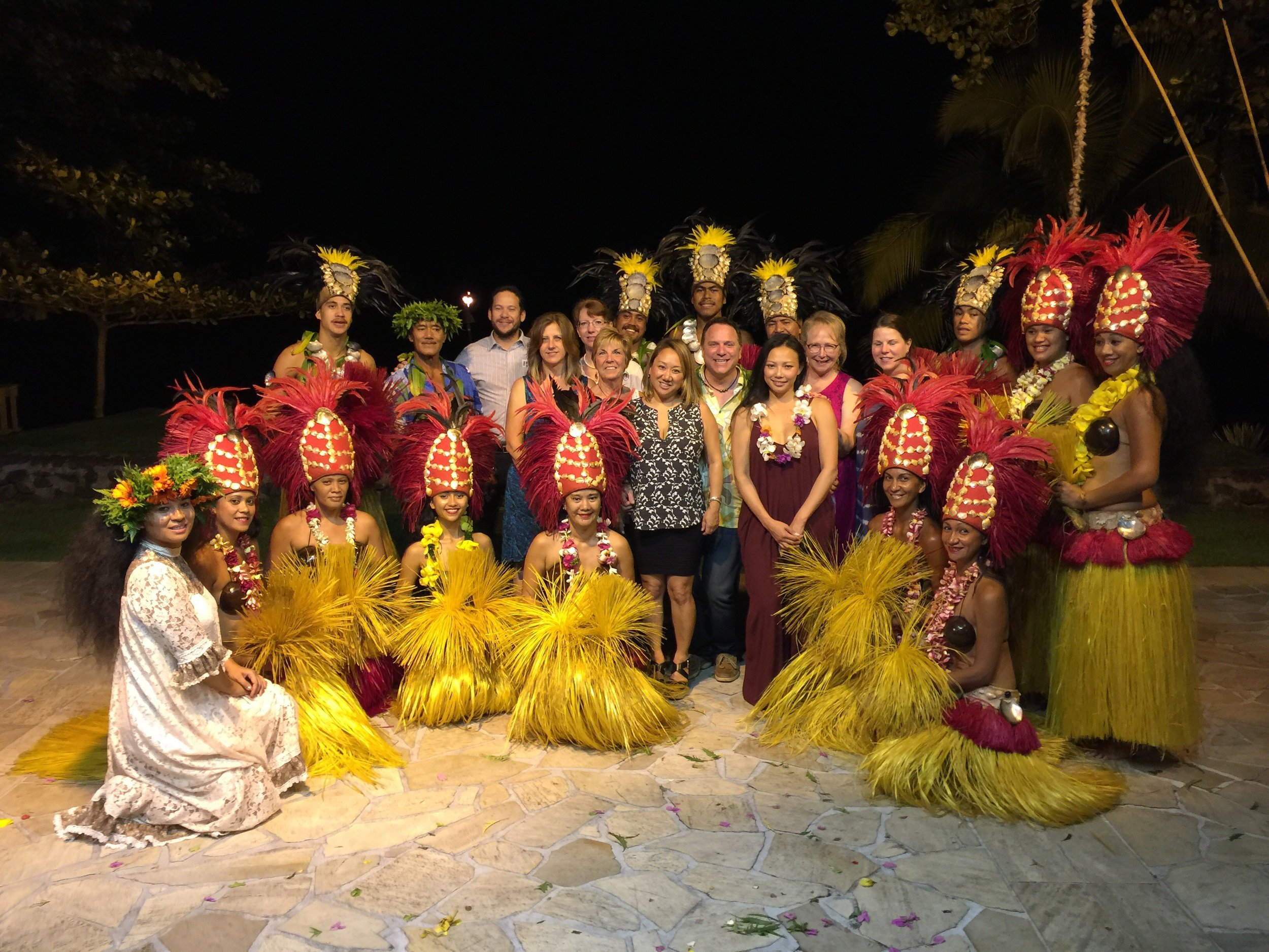 Our group joined the cast of the show at The Tahiti Pearl Beach Resort