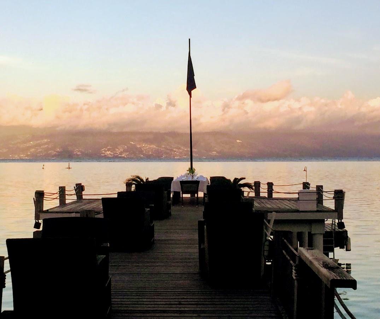 Our dinner table at the Sofitel Moorea Ia Ora Beach Resort