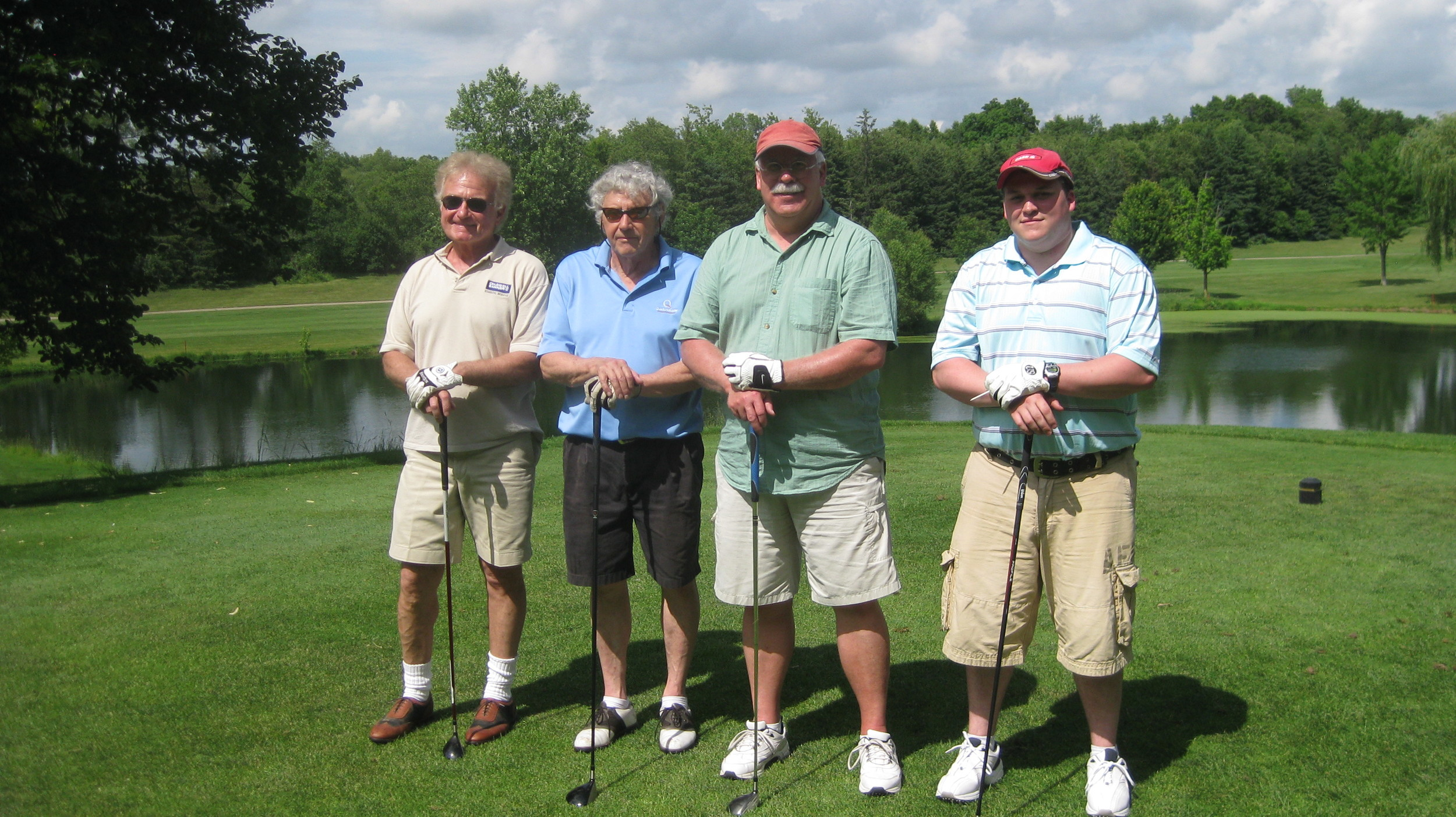Wayne, Jim, Jeff and Kyle - formidable golfing opponents