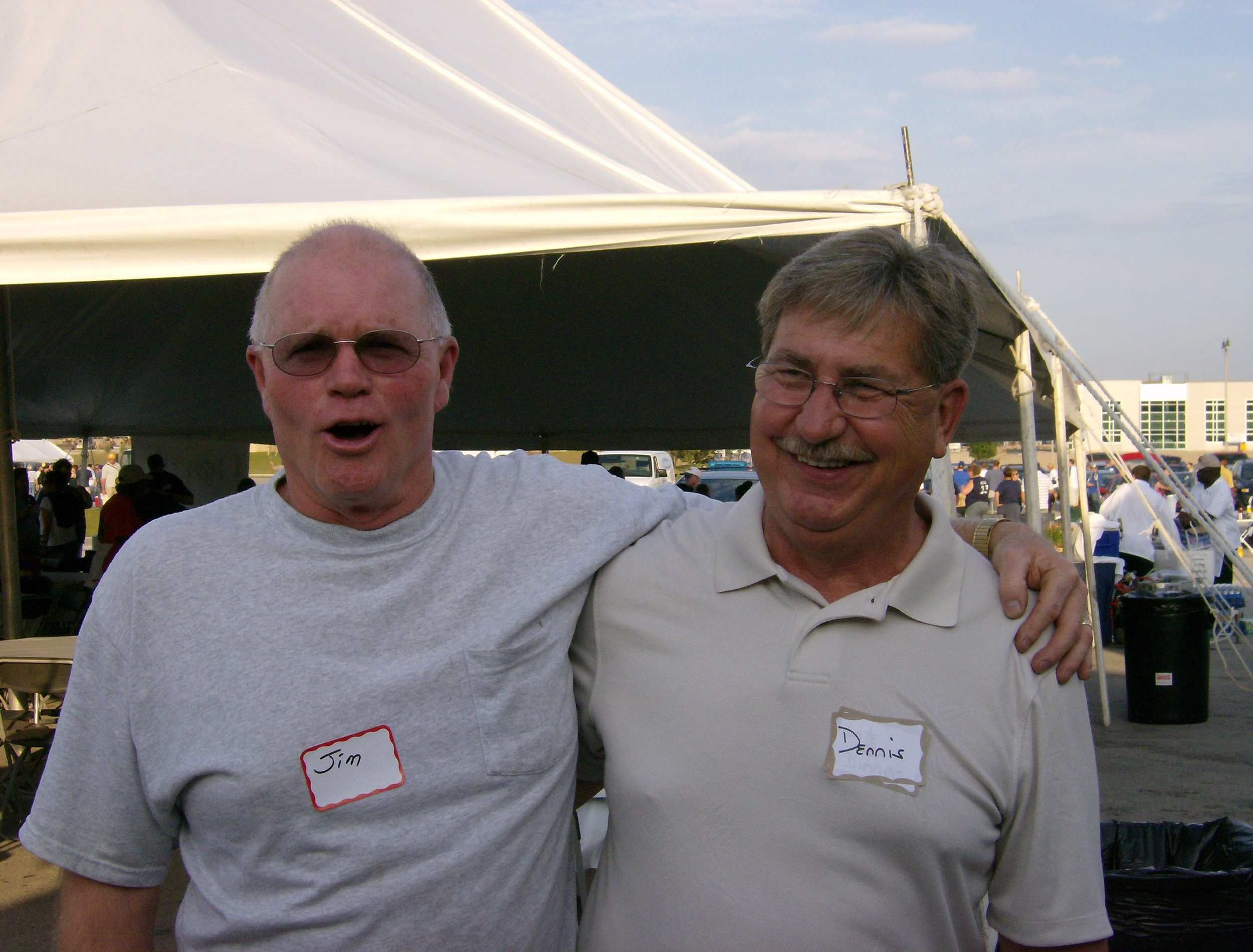 Jim and Dennis at the Gathering's Brewer's Outing in 2007