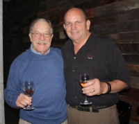Pat Smith and Paul Rogerville,       making Wine TOgether Since          1999
