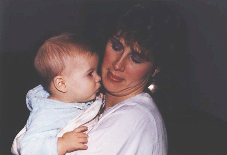 My mother and I.