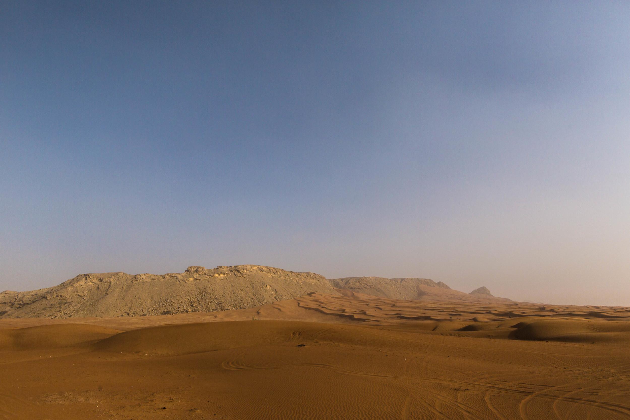 The desert outside Dubai.