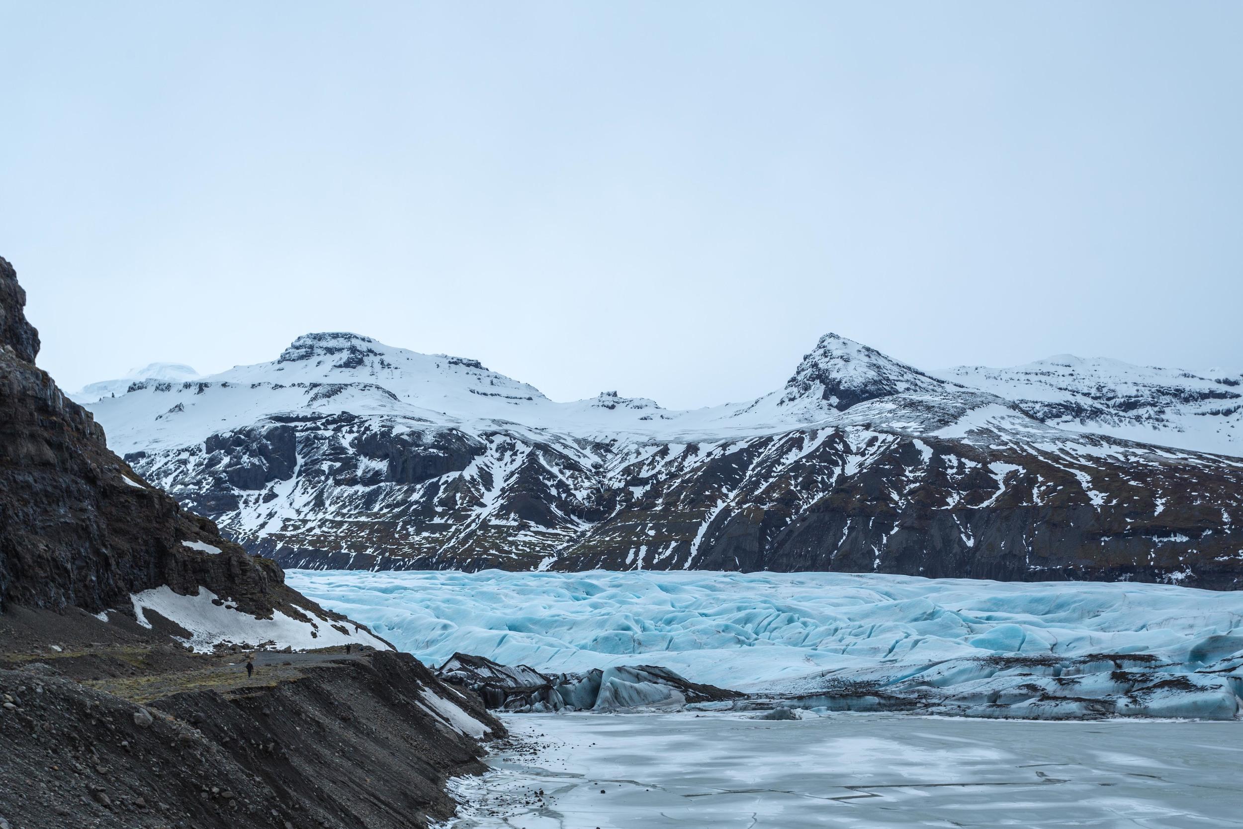 Skaftafell Glacier.
