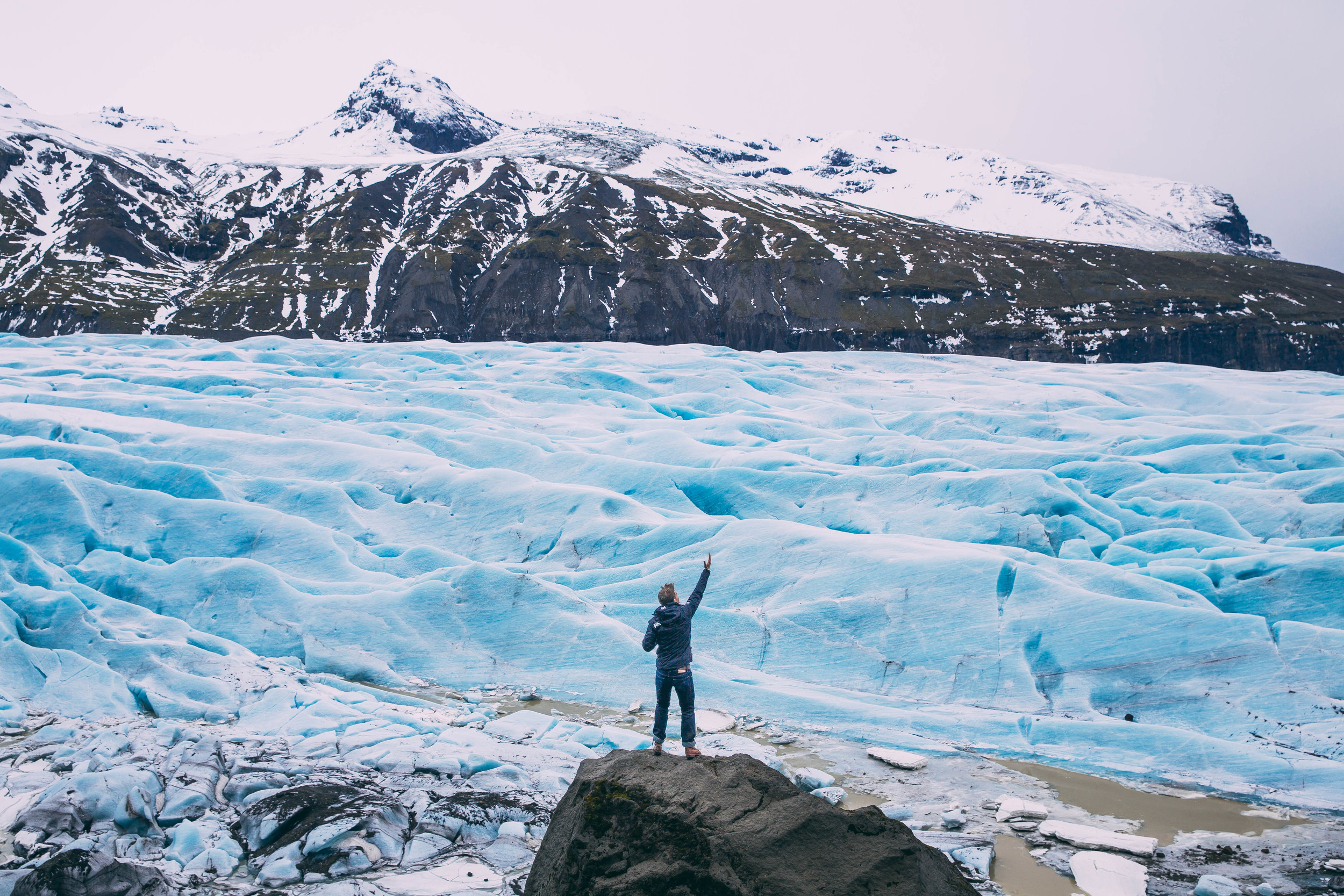 The spreading at Skaftafell Glacier. Photo by  Daniel Brown .